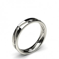 Round White Gold Wedding Bands