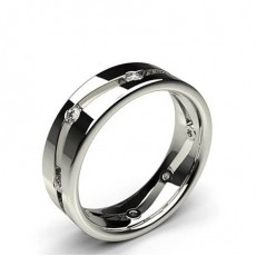 Diamond Studded Mens Wedding Band