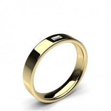 Baguette Yellow Gold Diamond Women's Wedding Bands