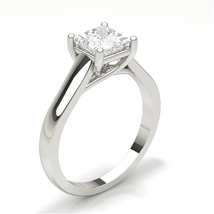 White Gold Princess Diamond Engagement Ring