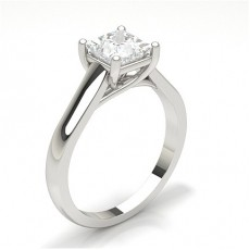 White Gold Princess Diamond Engagement Ring