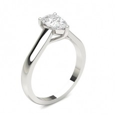 Pear Classic Solitaire Engagement Rings