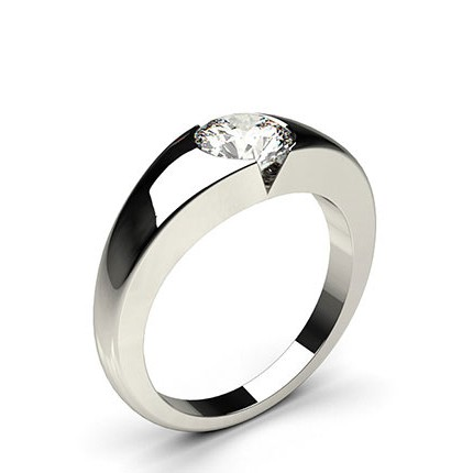 with ct jewellery solitaire white gold ring engagement and band wedding diamond p plain rings