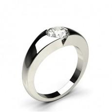 Invisible Setting Bague Diamant