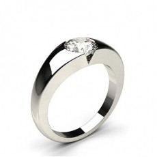 Flush Setting Plain Engagement Ring