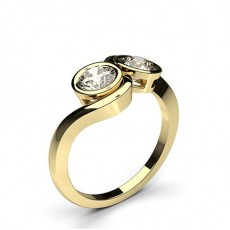 Yellow Gold  Two Stone Diamond Rings