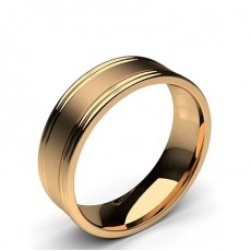 Rose Gold Men's Wedding Bands