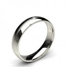 5.00mm Studded Comfort Fit Mens Wedding Band