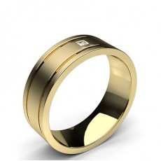 Princess Yellow Gold Contemporary Men
