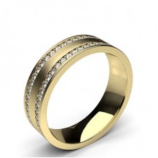 Round Yellow Gold Contemporary Men