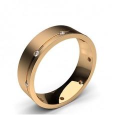 Rose Gold Men's Wedding Bands