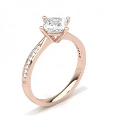 Princess Rose Gold  Ready to Deliver Engagement Rings