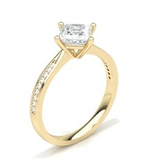 Yellow Gold Side Stone Engagement Rings