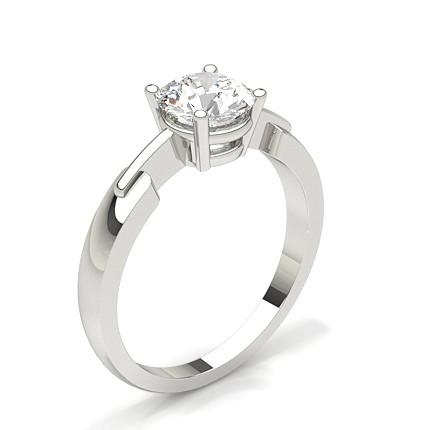 6d81b775811 White Gold Round Diamond Engagement Ring
