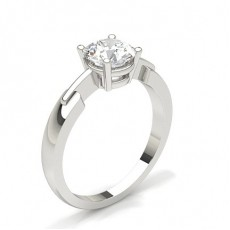 Round White Gold Diamond Engagement Rings
