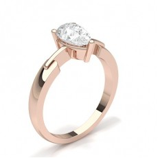 White Gold Round Diamond Engagement Ring