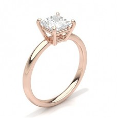 Princess Rose Gold Engagement Rings