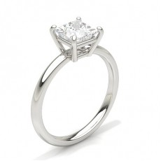 Princess Platinum Solitaire Diamond Engagement Rings