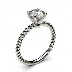 4 Prong Setting Plain Engagement Ring