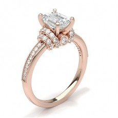 Emerald Rose Gold Engagement Rings
