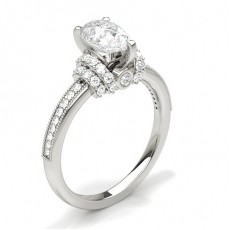 Pear Platinum Engagement Rings