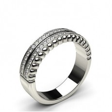Round  Half Eternity Diamond Rings