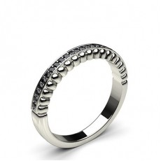 0.10ct. Pave Setting Half Eternity Black Diamond Ring