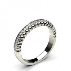 0.10ct. Pave Setting Half Eternity Diamond Ring