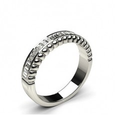 Baguette Half Eternity Diamond Rings