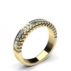 Baguette Yellow Gold Anniversary Diamond Rings