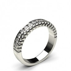 0.35ct. Channel Setting Half Eternity Diamond Ring