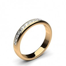 Princess Rose Gold Half Eternity Diamond Rings