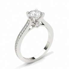Platinum Side Stone Diamond Rings