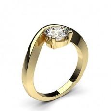 Rund Gelbgold Solitäerringe Diamantringe