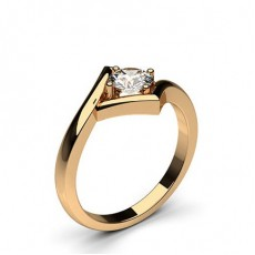 Round Rose Gold  Classic Solitaire Engagement Rings