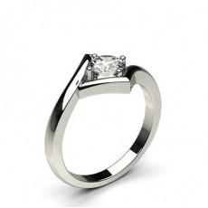 Round White Gold Solitaire Engagement Rings