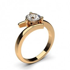 Rose Gold Solitaire Diamond Engagement Rings