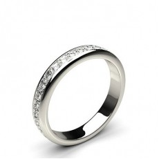 Princess Platinum Full Eternity Diamond Rings