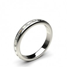 Baguette Platinum Full Eternity Diamond Rings