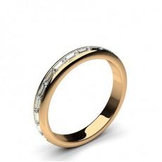 Rose Gold Anniversary Diamond Rings