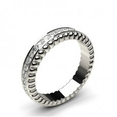 Princess Full Eternity Diamond Rings