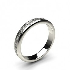 3.30mm Pave Setting Full Eternity Diamond Ring