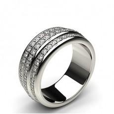 Round White Gold Full Diamond Eternity Rings