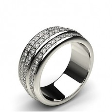 8.40mm Pave Setting Full Eternity Diamond Ring
