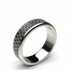 4.80mm Pave Setting Full Eternity Black Diamond Ring
