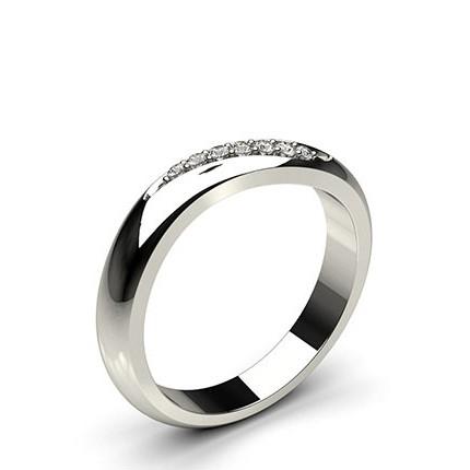3.00mm Studded Flat Profile Diamond Shaped Band