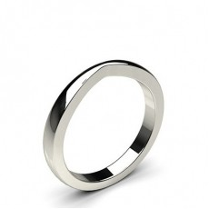 2.3mm Flat Profile Plain Shaped Wedding Band