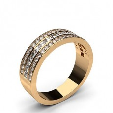 Mixed Shapes Rose Gold Half Eternity Diamond Rings