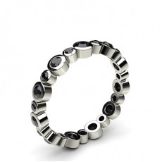 Full Bezel Setting Full Eternity Black Diamond Ring