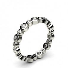 Platinum Full Eternity Diamond Rings